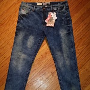 Bleecker & Mercer Distressed Skinny Jeans 36 x 32
